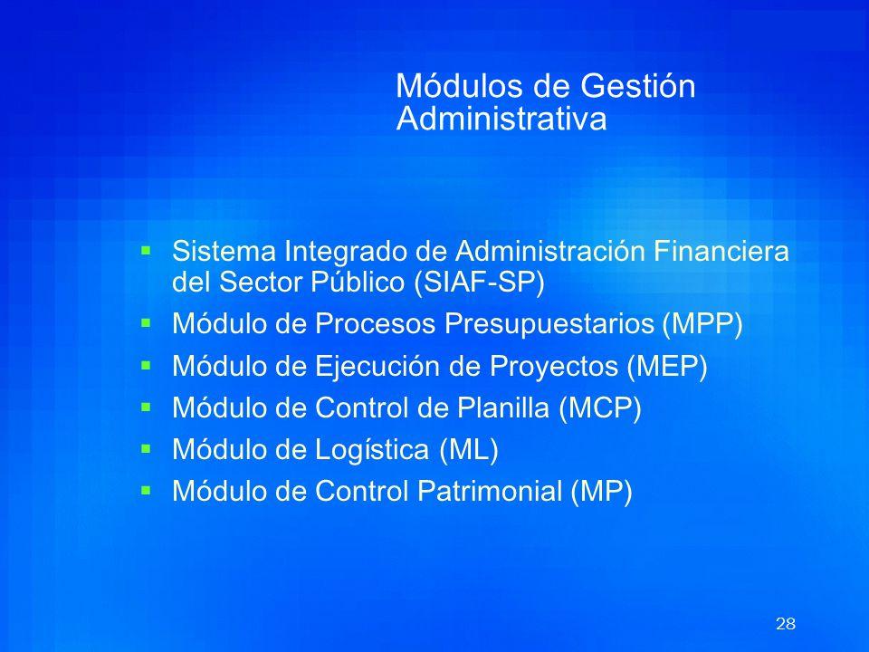 27 SIGA Sistema Integrado de Gestión Administrativa