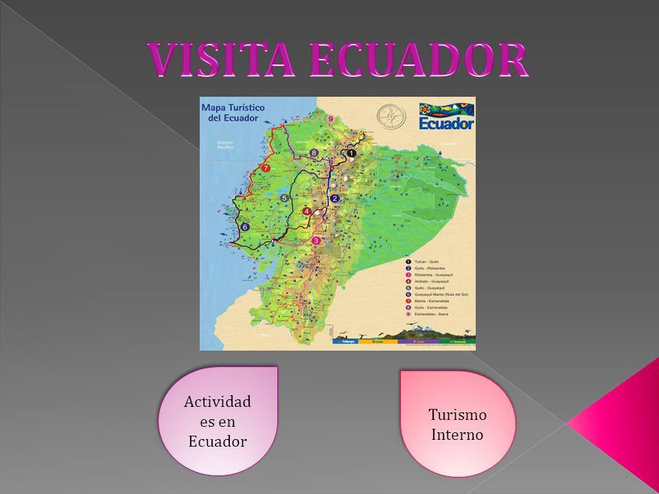 Actividad es en Ecuador Actividad es en Ecuador Turismo Interno Turismo Interno