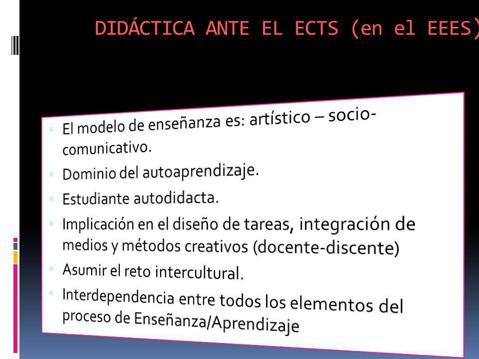 DIDÁCTICA ANTE EL ECTS (en el EEES )