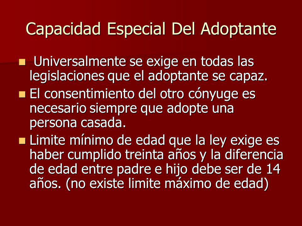 Se impedirá de hecho la adopción por parte de un anciano que sea realmente incapaz de desempeñar sus obligaciones.