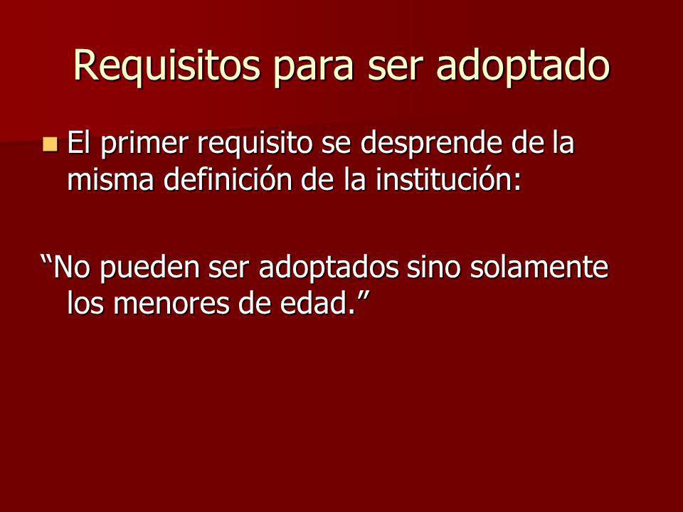Consentimientos Necesarios 1.El consentimiento de los adoptantes, es irremplazable.