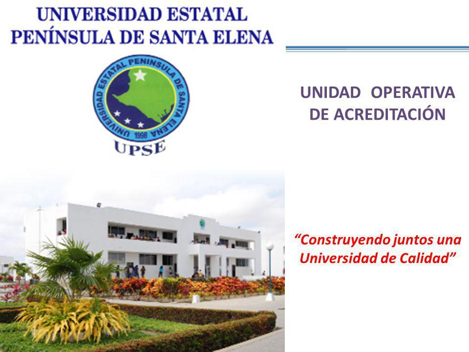 UNIDAD OPERATIVA DE ACREDITACIÓN Construyendo juntos una Universidad de Calidad