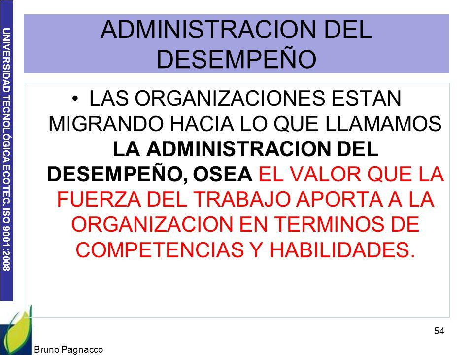 UNIVERSIDAD TECNOLÓGICA ECOTEC. ISO 9001:2008 ADMINISTRACION DEL DESEMPEÑO LAS ORGANIZACIONES ESTAN MIGRANDO HACIA LO QUE LLAMAMOS LA ADMINISTRACION D
