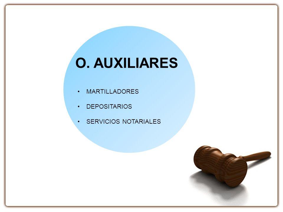O. AUXILIARES MARTILLADORES DEPOSITARIOS SERVICIOS NOTARIALES