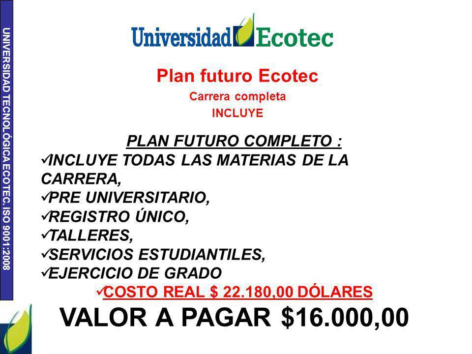 UNIVERSIDAD TECNOLÓGICA ECOTEC. ISO 9001:2008 Titulo de propiedad
