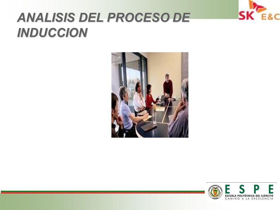 ANALISIS DEL PROCESO DE INDUCCION