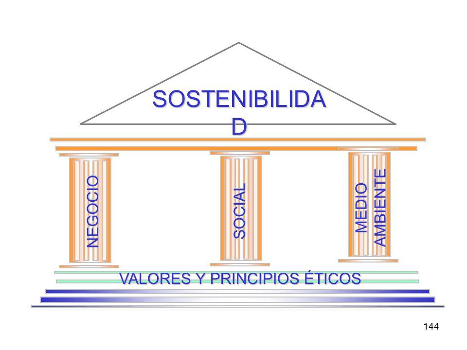 144 SOSTENIBILIDA D NEGOCIO SOCIAL MEDIO AMBIENTE VALORES Y PRINCIPIOS ÉTICOS