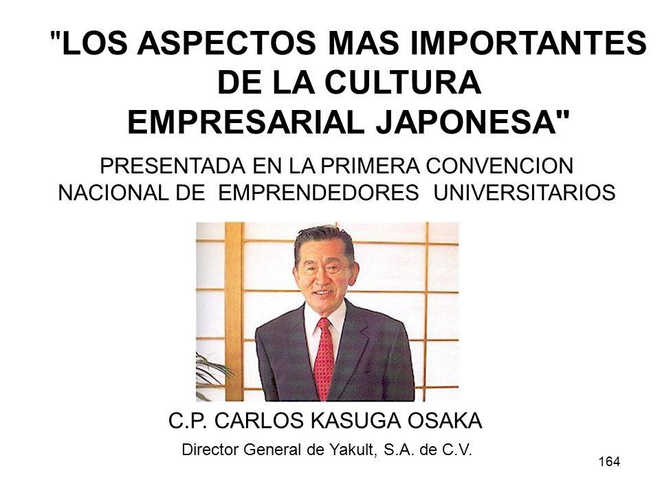 164 LOS ASPECTOS MAS IMPORTANTES DE LA CULTURA EMPRESARIAL JAPONESA C.P.