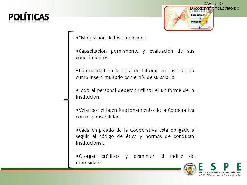 Motivación de los empleados.Capacitación permanente y evaluación de sus conocimientos.