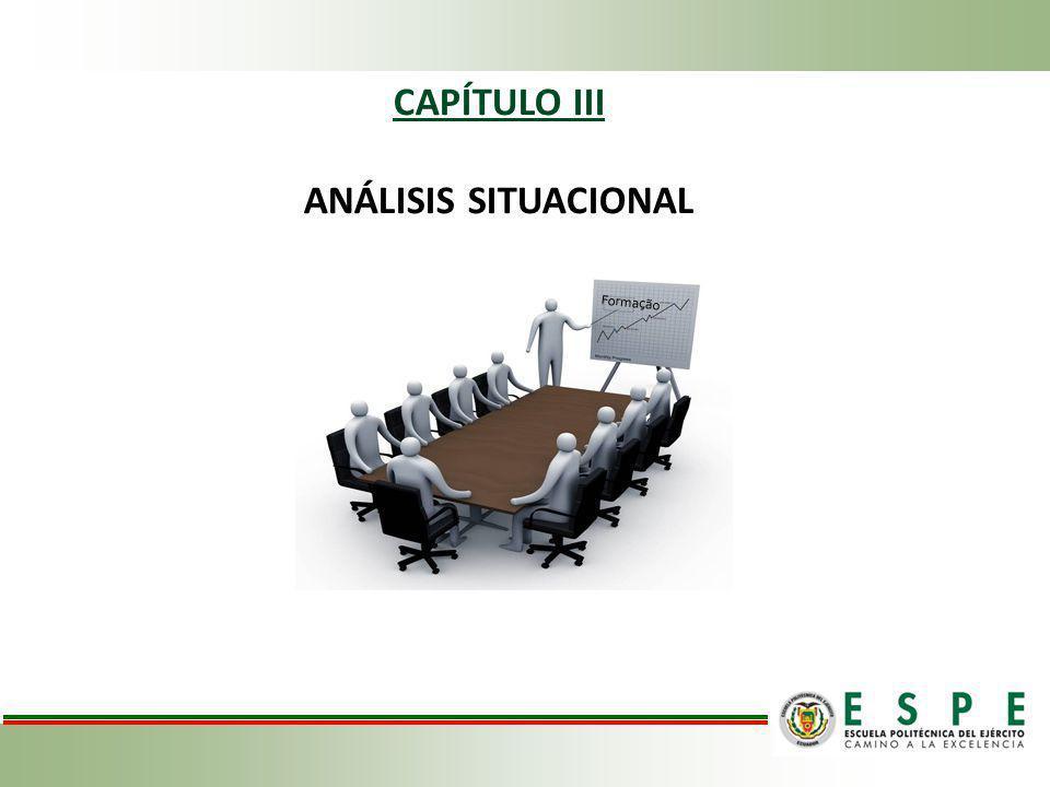 CAPÍTULO III ANÁLISIS SITUACIONAL