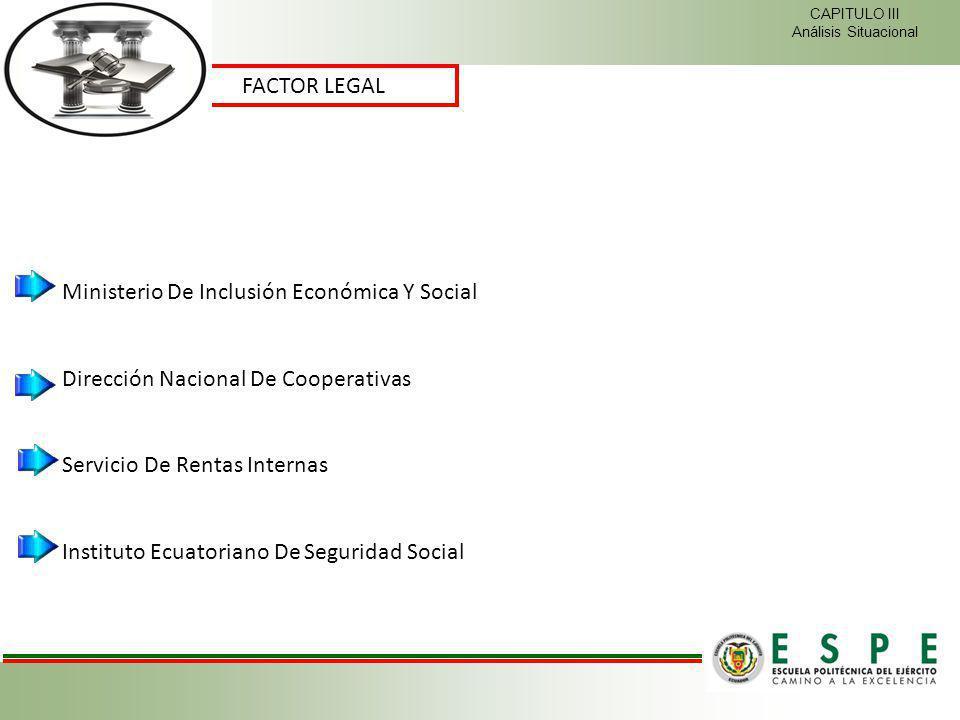 FACTOR LEGAL CAPITULO III Análisis Situacional Ministerio De Inclusión Económica Y Social Dirección Nacional De Cooperativas Servicio De Rentas Intern