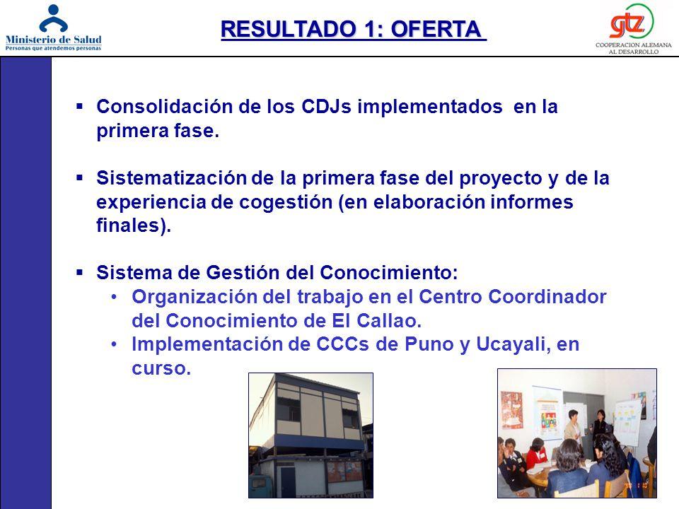 Consolidación de los CDJs implementados en la primera fase. Sistematización de la primera fase del proyecto y de la experiencia de cogestión (en elabo
