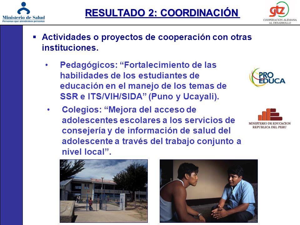 Actividades o proyectos de cooperación con otras instituciones. Pedagógicos: Fortalecimiento de las habilidades de los estudiantes de educación en el
