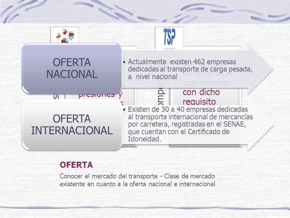 DEMANDA POTENCIAL INSATISFECHA Participación del 2% anual de la demanda insatisfecha Primer año un promedio total de 240 viajes desde Ecuador hacia Colombia y viceversa.
