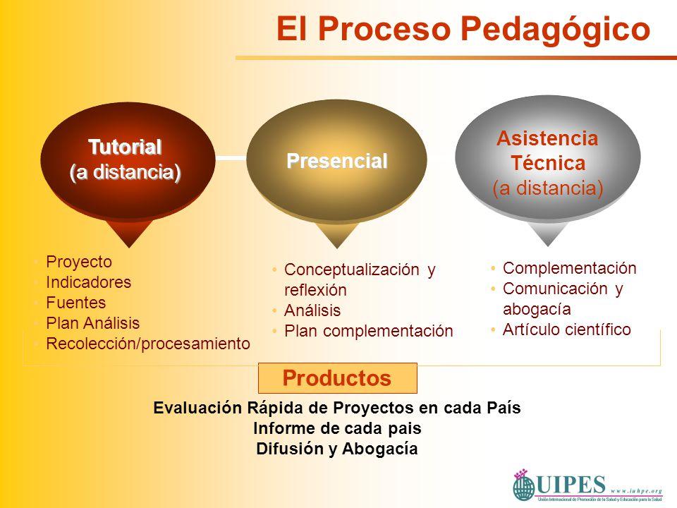 Complementación Comunicación y abogacía Artículo científico Conceptualización y reflexión Análisis Plan complementación Tutorial (a distancia) Presenc