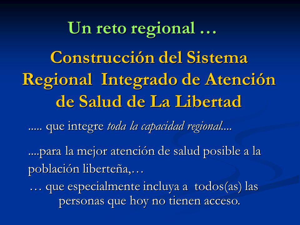 Construcción del Sistema Regional Integrado de Atención de Salud de La Libertad Un reto regional …..... que integre toda la capacidad regional........