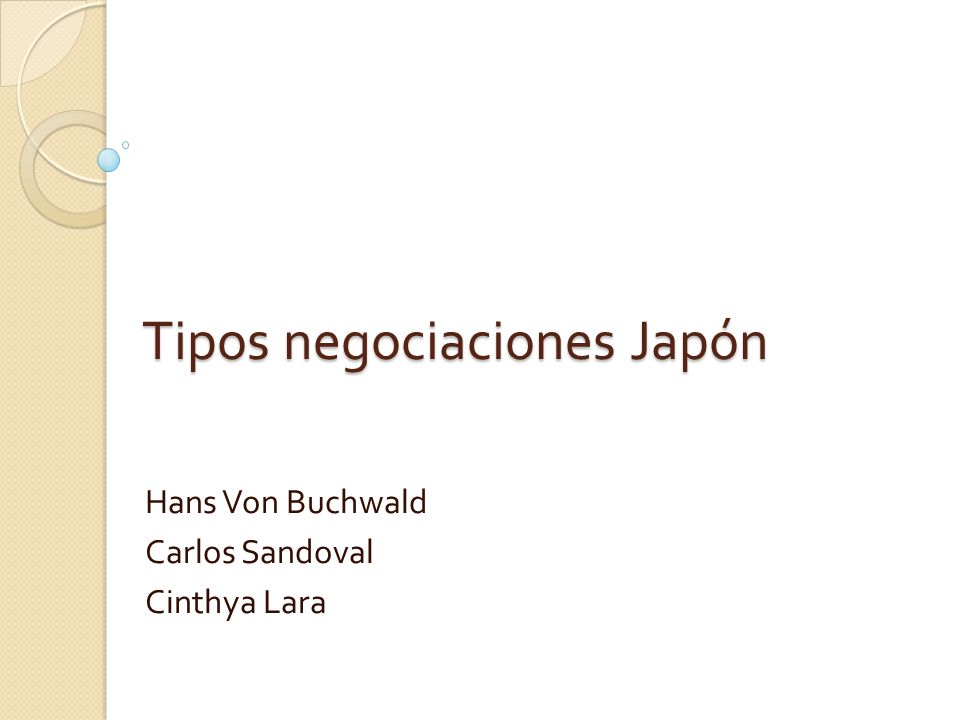 Negociando con los japoneses es importante Nunca haga preguntas a menos que esté seguro que pueden ser contestadas.