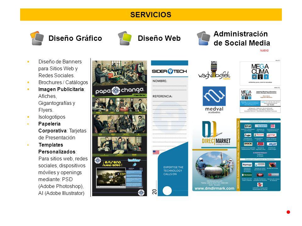 SERVICIOS Diseño de Banners para Sitios Web y Redes Sociales.