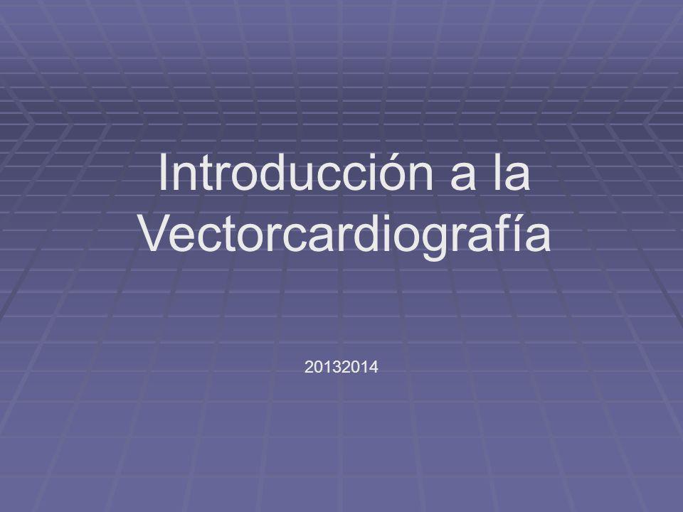 Introducción a la Vectorcardiografía 20132014