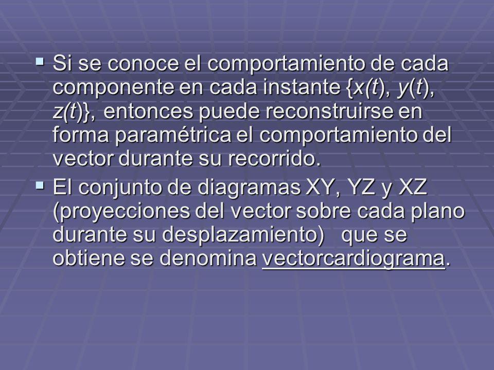 Si se conoce el comportamiento de cada componente en cada instante {x(t), y(t), z(t)}, entonces puede reconstruirse en forma paramétrica el comportami