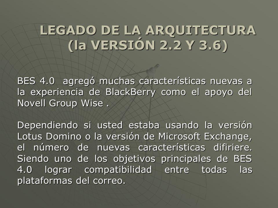 BES 4.0 agregó muchas características nuevas a la experiencia de BlackBerry como el apoyo del Novell Group Wise.