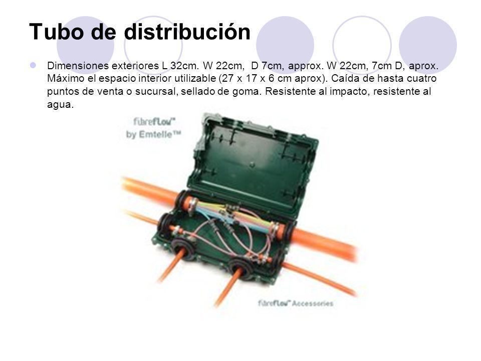 Tubo de distribución Dimensiones exteriores L 32cm.