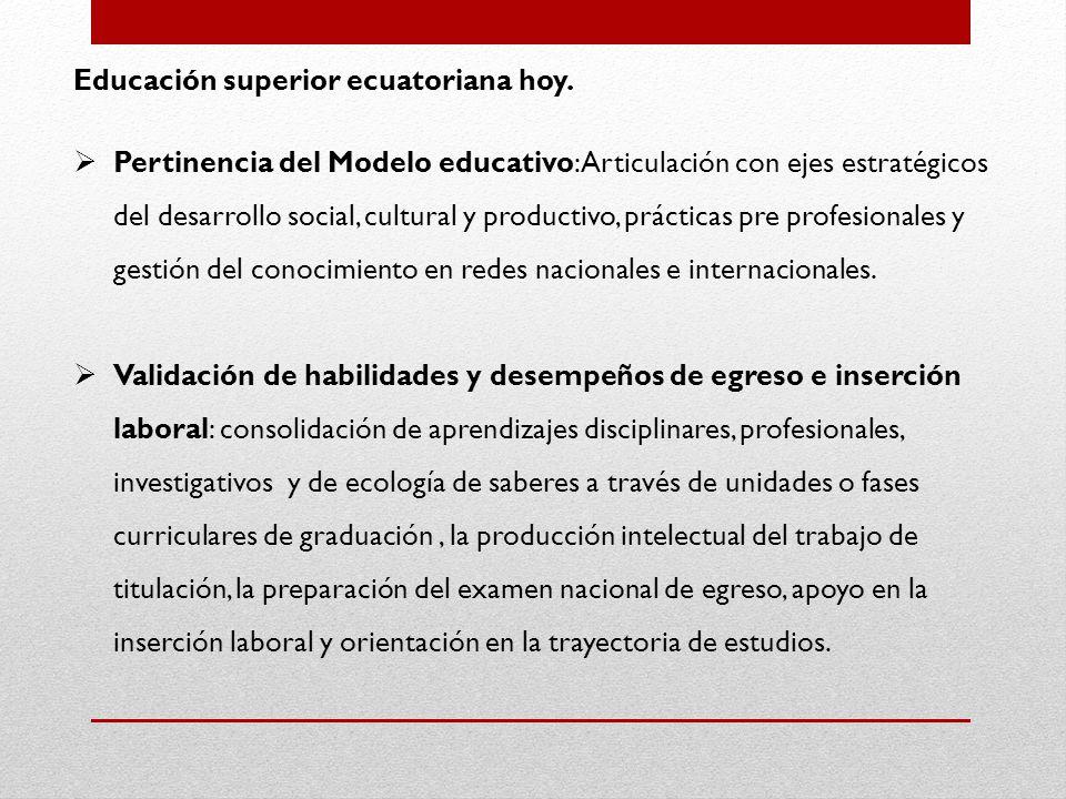 Educación superior ecuatoriana hoy.