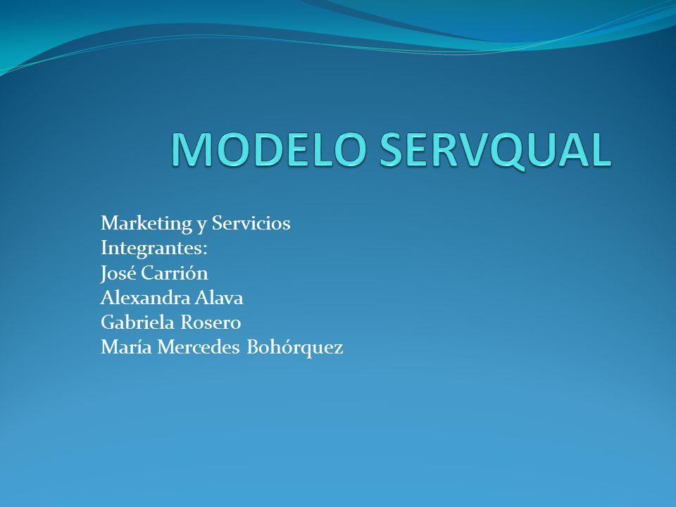 Marketing y Servicios Integrantes: José Carrión Alexandra Alava Gabriela Rosero María Mercedes Bohórquez