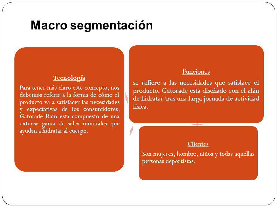 Micro segmentación A diferencia de la macro segmentación, que es una división a priori del mercado que puede hacerse en base a datos estadísticos sin conocer el comportamiento de compra, la micro segmentación requiere generalmente el análisis del comportamiento de compra.