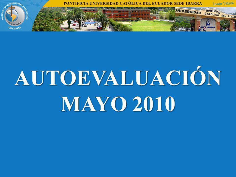 AUTOEVALUACIÓN MAYO 2010