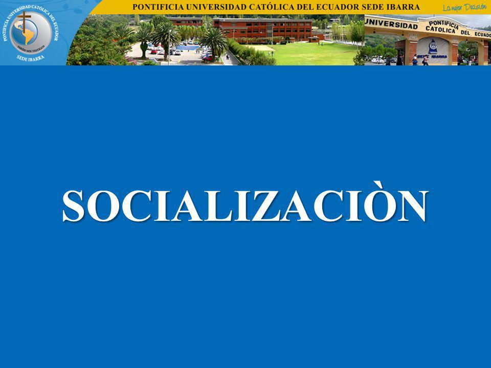 SOCIALIZACIÒN