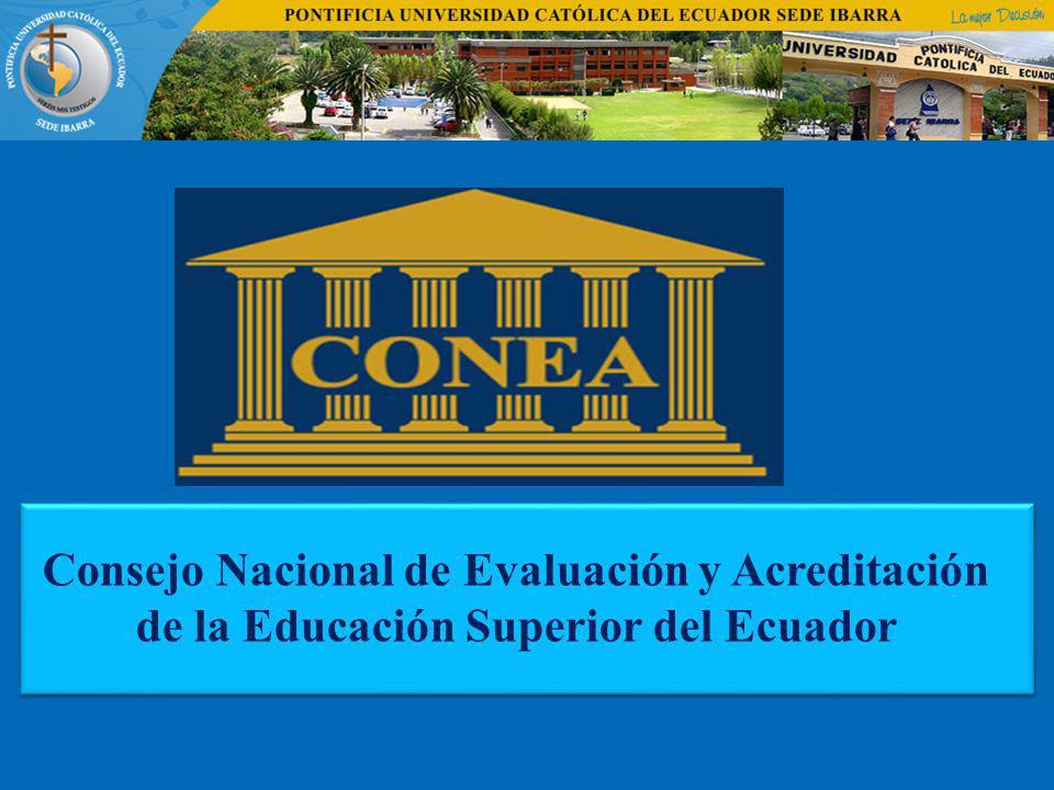 Consejo Nacional de Evaluación y Acreditación de la Educación Superior del Ecuador