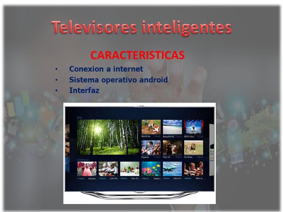 CARACTERISTICAS Conexion a internet Sistema operativo android Interfaz