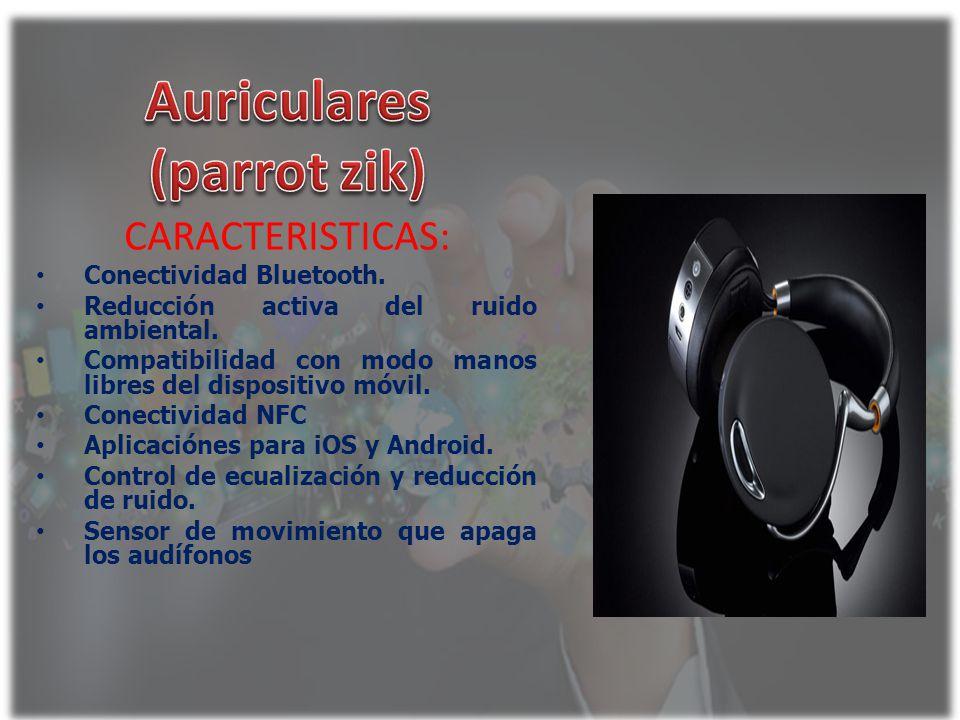 CARACTERISTICAS: Conectividad Bluetooth. Reducción activa del ruido ambiental. Compatibilidad con modo manos libres del dispositivo móvil. Conectivida