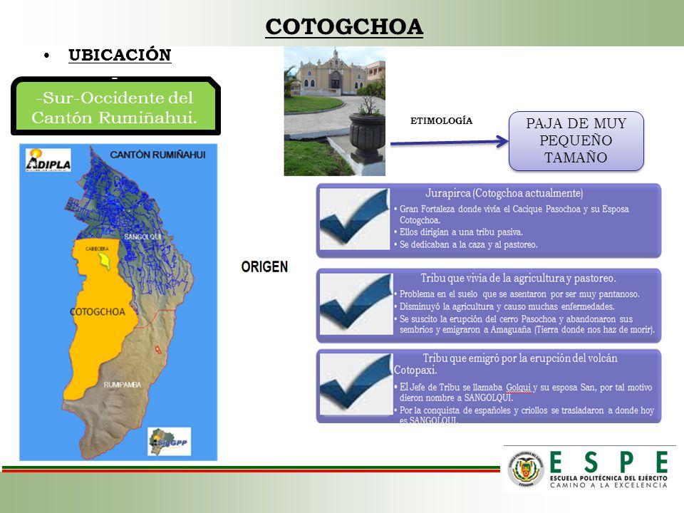 SIMBOLOS PATRIOS DE LA PARROQUIA DE COTOGCHOA COMPONENTES DE LOS SÍMBOLOS PATRIOS Cinco coronas que representan las 5 parroquias del Cantón Rumiñahui.