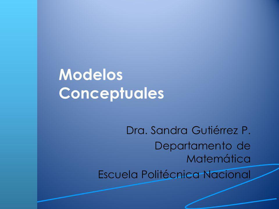 Modelo conceptual Objetivos: El propósito del modelo y del proyecto de modelación.