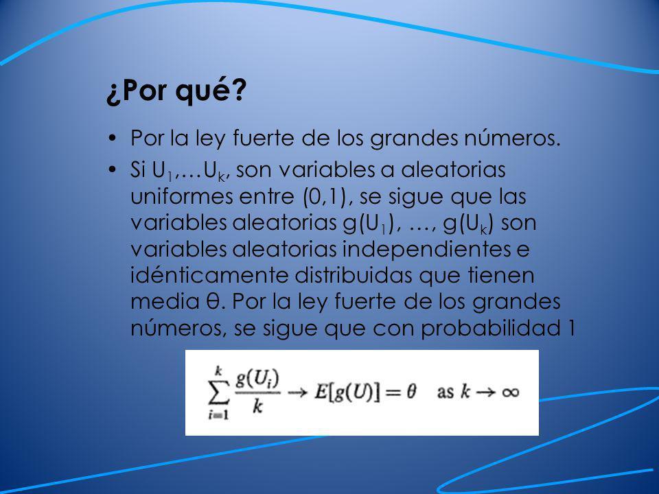 Ejercicios: Utilizar el método de Monte Carlo para aproximar las siguientes integrales.