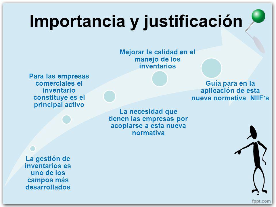 Importancia y justificación 3 La gestión de inventarios es uno de los campos más desarrollados Para las empresas comerciales el inventario constituye