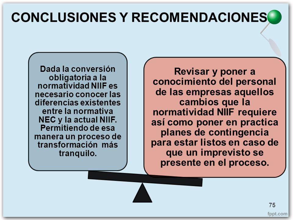 Dada la conversión obligatoria a la normatividad NIIF es necesario conocer las diferencias existentes entre la normativa NEC y la actual NIIF. Permiti