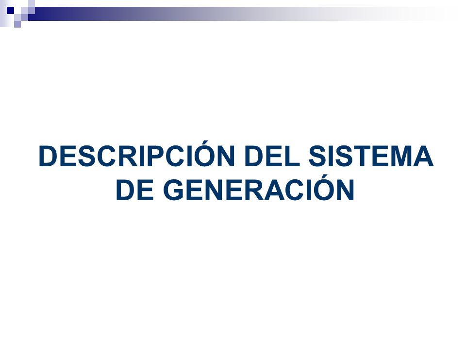 DESCRIPCIÓN DEL SISTEMA DE GENERACIÓN