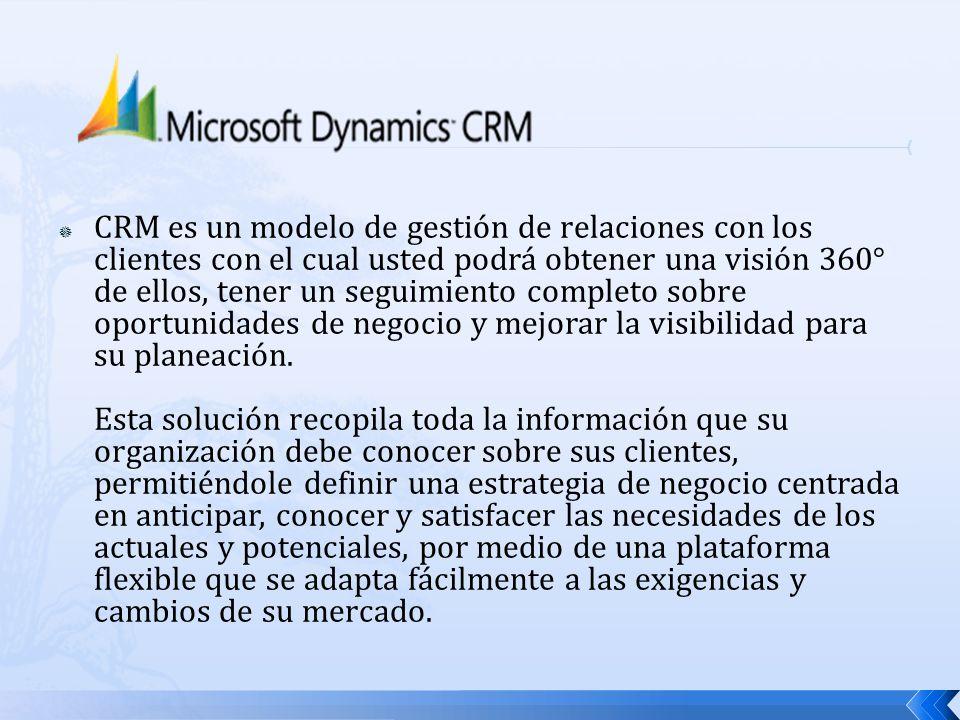 CRM es un modelo de gestión de relaciones con los clientes con el cual usted podrá obtener una visión 360° de ellos, tener un seguimiento completo sob