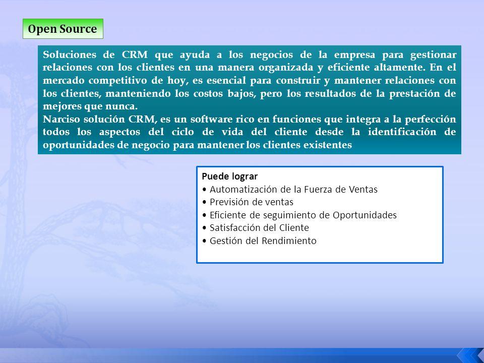 Open Source Soluciones de CRM que ayuda a los negocios de la empresa para gestionar relaciones con los clientes en una manera organizada y eficiente a