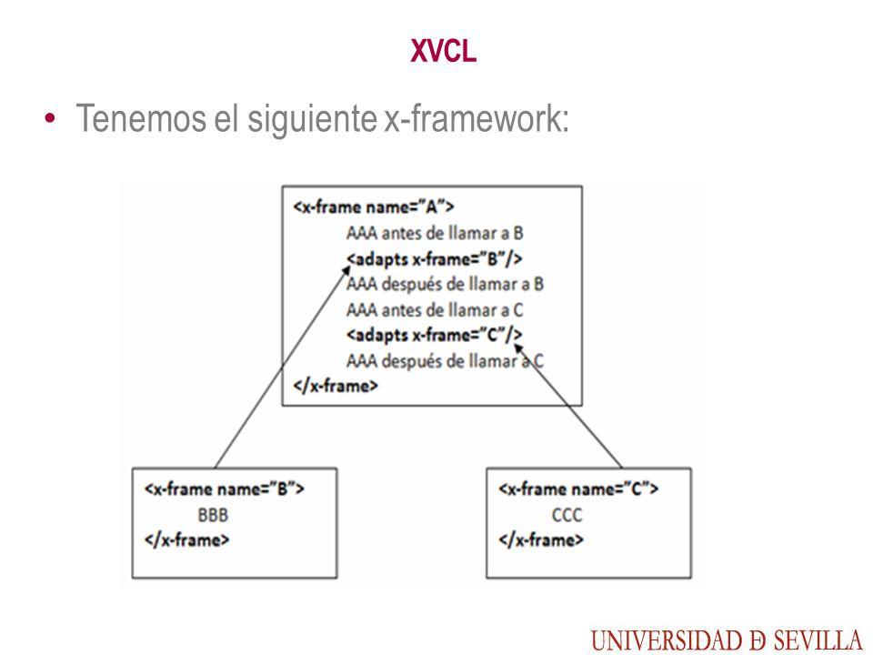 XVCL Tenemos el siguiente x-framework: