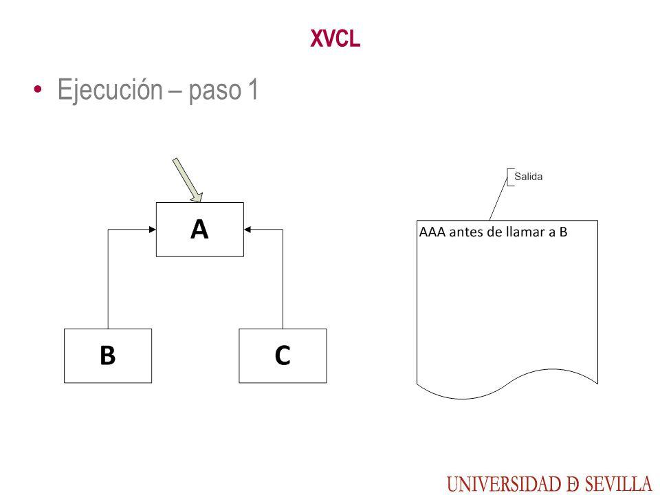 XVCL Ejecución – paso 1