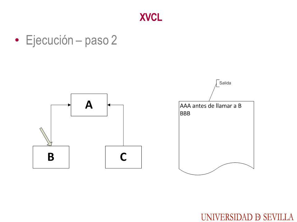 XVCL Ejecución – paso 2