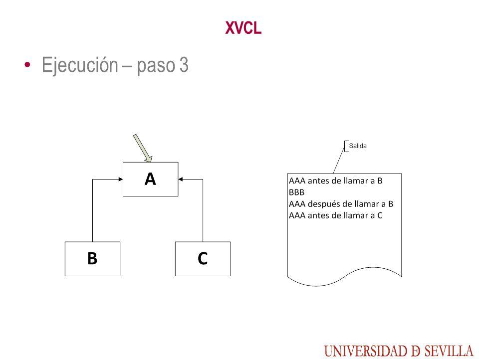 XVCL Ejecución – paso 3