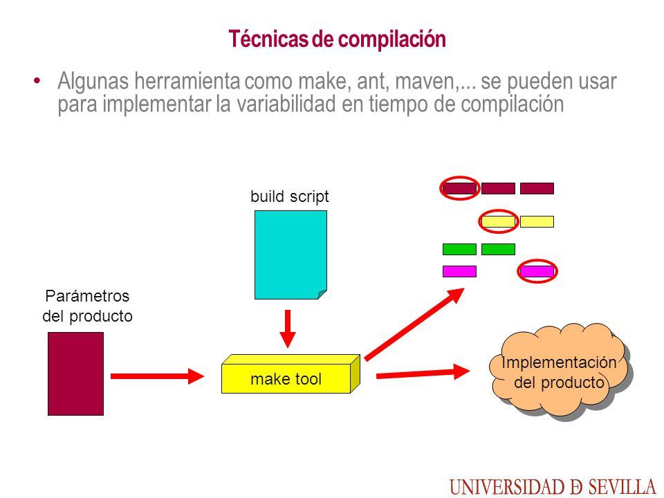 Técnicas de compilación Algunas herramienta como make, ant, maven,...