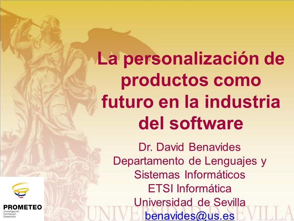 La personalización de productos como futuro en la industria del software Dr.