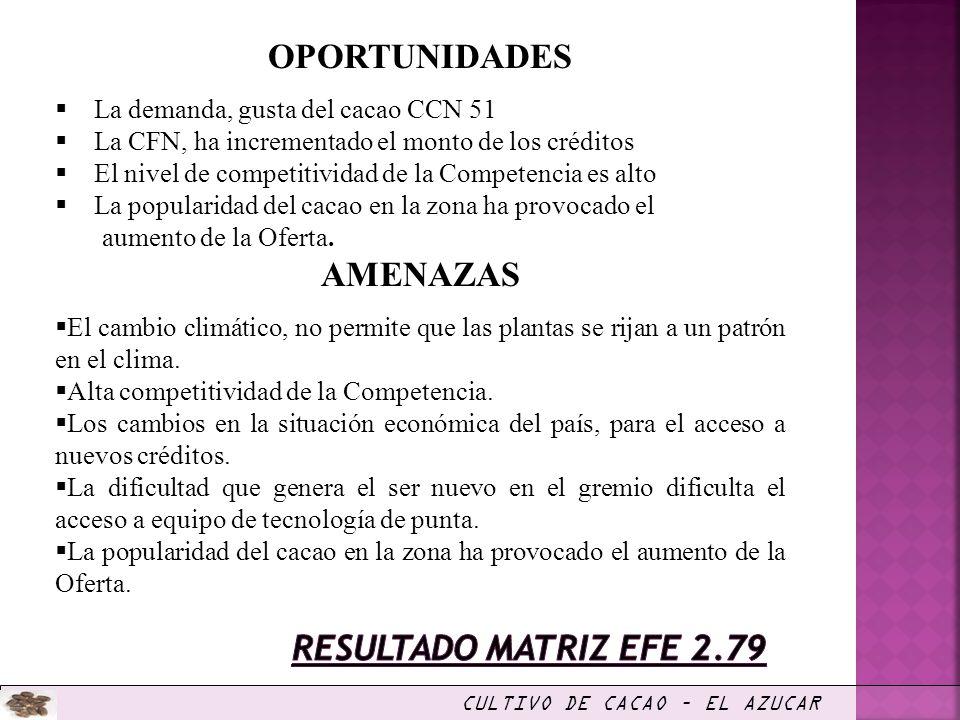 CULTIVO DE CACAO – EL AZUCAR INVERSIÓN TOTAL Monto (U.S.