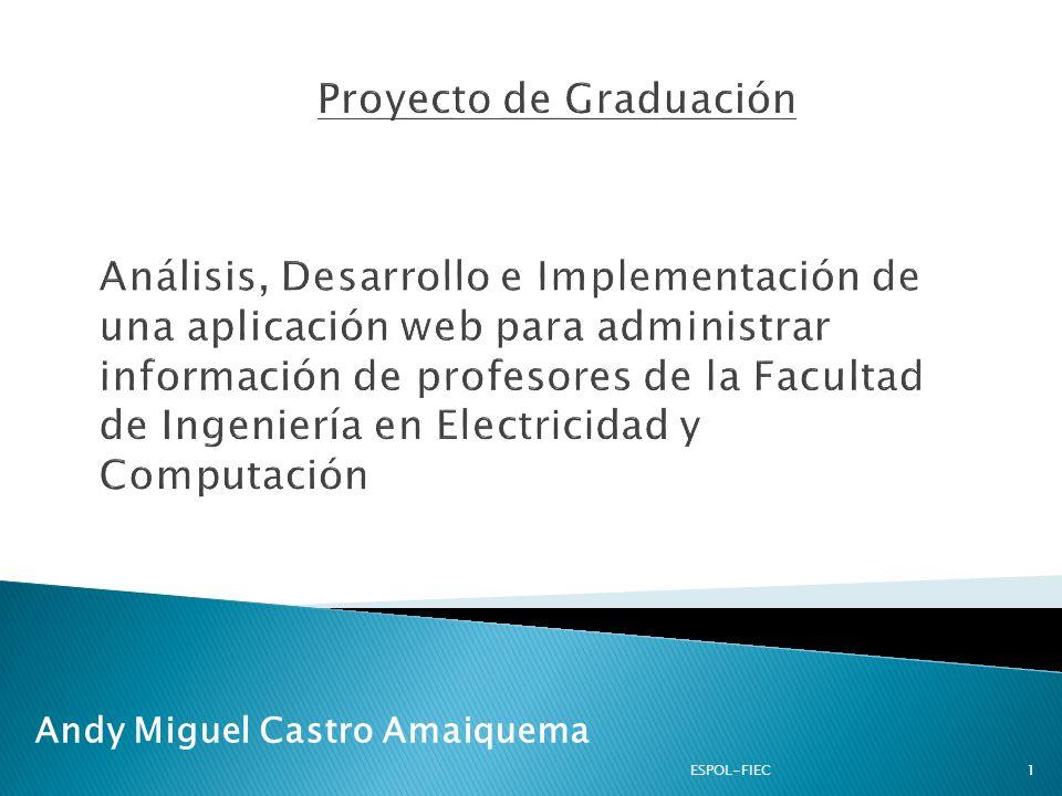 Introducción Alcance Justificación Tecnologías Utilizadas Demostración Conclusiones y Recomendaciones 2ESPOL-FIEC